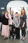 Jamie McDevitt with his mam Karen, nan Pauline and sponsor Gwen at Scoil an Spioraid Naoimh NS Confirmation in Laytown Church...Photo NEWSFILE/Jenny Matthews.(Photo credit should read Jenny Matthews/NEWSFILE)....This Picture has been sent you under the condtions enclosed by:.Newsfile Ltd..The Studio,.Millmount Abbey,.Drogheda,.Co Meath..Ireland..Tel: +353(0)41-9871240.Fax: +353(0)41-9871260.GSM: +353(0)86-2500958.email: pictures@newsfile.ie.www.newsfile.ie.FTP: 193.120.102.198.