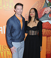"07 April 2019 - New York, New York - Hugh Jackman and Zoe Saldana at the New York Premiere of ""MISSING LINK"", held at Regal Cinemas Battery Park II. Photo Credit: LJ Fotos/AdMedia"