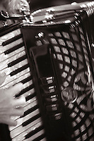 """Piano accordian, """"Edge of Chaos Orchestra"""" recording at the Blue Coconut Club, Pulborough, West Sussex."""