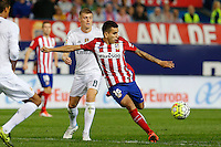 Atletico Madrid´s Argentinean forward Angel Martin Correa and Real Madrid´s Casemiro