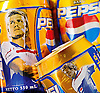 Gold Pepsi cans with David Beckham printed on them.