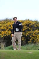 Gary Collins (Rosslare) on the 7th tee during round 2 of The West of Ireland Amateur Open in Co. Sligo Golf Club on Saturday 19th April 2014.<br /> Picture:  Thos Caffrey / www.golffile.ie