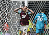 Burnley's Ashley Barnes celebrates scoring his side's second goal <br /> <br /> Photographer Rob Newell/CameraSport<br /> <br /> The Premier League - Watford v Burnley - Saturday 23rd November 2019 - Vicarage Road - Watford <br /> <br /> World Copyright © 2019 CameraSport. All rights reserved. 43 Linden Ave. Countesthorpe. Leicester. England. LE8 5PG - Tel: +44 (0) 116 277 4147 - admin@camerasport.com - www.camerasport.com