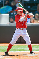 Nebraska Cornhusker 2b Kale Kiser against Texas on Sunday March 21st, 2100 at UFCU Dish-Falk Field in Austin, Texas.  (Photo by Andrew Woolley / Four Seam Images)