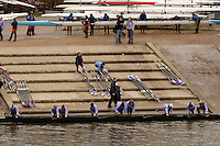 Chiswick, London. ENGLAND,11.03.2006, Durham University BC boat from TSS before the 2006  Women's Head of the River Race Mortlake to Putney  on Saturday 11th March    © Peter Spurrier/Intersport-images.com.. 2006 Women's Head of the River Race. Rowing Course: River Thames, Championship course, Putney to Mortlake 4.25 Miles