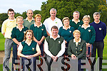 The Ross Golf team that played Dunloe in the Nines Kerry final in Castlerosse Golf Course on Saturday front row l-r: Agnes Linehan Manager, Tony Lenihan Club Captain, Noreen O'Mahony President. Back row: Anthony O'Carroll, Peggy O'Donoghue, Terence Mulcahy, Mary Lynch, Tadgh Moynihan, Anne O'Leary, John Linehan, Helen O'Donoghue and Tom Ashe   Copyright Kerry's Eye 2008