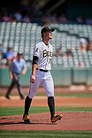Salt Lake Bees starting pitcher Alex Klonowski (30) during the game against the Fresno Grizzlies at Smith's Ballpark on September 4, 2017 in Salt Lake City, Utah. Fresno defeated Salt Lake 9-7. (Stephen Smith/Four Seam Images)