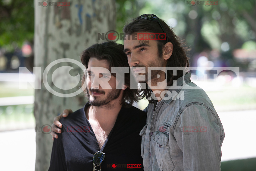 Actors Yon Gonzalez and Aitor Luna pose during `Matar el Tiempo´ film premiere in Madrid, Spain. May 27, 2015. (ALTERPHOTOS/Victor Blanco) /NortePhoto.com