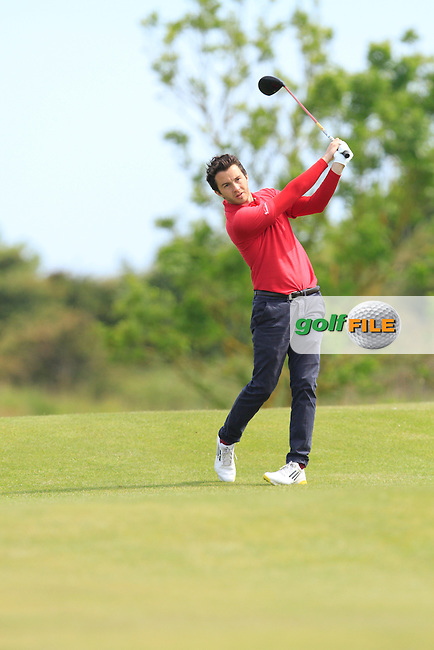 Gerard Dunne (Co. Louth) on the 7th tee during Round 1 of the Irish Amateur Close Championship at Seapoint Golf Club on Saturday 7th June 2014.<br /> Picture:  Thos Caffrey / www.golffile.ie