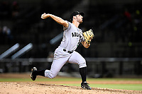 Pitcher Ryan Walker (49) of the Augusta GreenJackets delivers a pitch in a game against the Columbia Fireflies on Thursday, July 11, 2019 at Segra Park in Columbia, South Carolina. Columbia won, 5-2. (Tom Priddy/Four Seam Images)