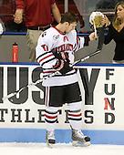 Steve Silva (NU - 17) - The Northeastern University Huskies defeated the Bentley University Falcons 3-2 on Friday, October 16, 2009, at Matthews Arena in Boston, Massachusetts.