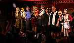 Carmen Ruby Floyd, John Tartaglia, Jennifer Barnhart, Rick Lyon, Erin Quill, Jordan Gelber and Stephanie D'Abruzzo during the 'Avenue Q' 15th Anniversary Reunion Concert at Feinstein's/54 Below on July 30, 2018 in New York City.