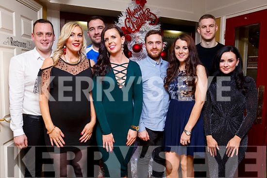 Enjoying their New Year Celebrations in the Brogue Inn on Sunday night are l-r, Chris Foley, Fiona O'Connell, Mossie Hogan, Stephanie Hogan, Darren Young, Karen McKenna, Johnathon Galvin and Eva Stanton.