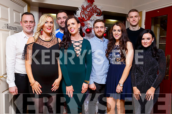 Enjoying their New Year Celebrations in the Brogue Inn on Sunday night are l-r, Chris Foley, Fiona O'Connell, Mossie Hogan, Stephanie Hogan, Darren Young, Karen McKenna, Johnathon Galvin and Eva Stanton.