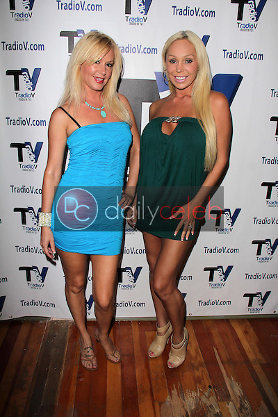 "Beverly Lynne, Mary Carey<br /> on the set of ""Politically Naughty with Mary Carey,"" TradioV Studios, Los Angeles, CA 09-16-13<br /> David Edwards/DailyCeleb.Com 818-249-4998"