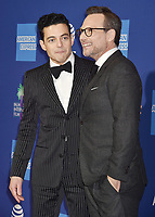 PALM SPRINGS, CA - JANUARY 03: Rami Malek (L) and Christian Slater attend the 30th Annual Palm Springs International Film Festival Film Awards Gala at Palm Springs Convention Center on January 3, 2019 in Palm Springs, California.<br /> CAP/ROT/TM<br /> ©TM/ROT/Capital Pictures