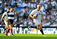 Mike Tindall has a clear run for the try-line. MasterCard Trophy International match between England and the Barbarians on May 30, 2010 at Twickenham Stadium in London, England. [Mandatory Credit: Patrick Khachfe/Onside Images]