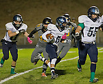 A photograph from the  Damonte Ranch Mustangs at the Galena Grizzlies football game played on Thursday night, October 29, 2015 in Reno, Nevada.