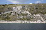 Cliff collapse, Ballard Point headland, Dorset, England