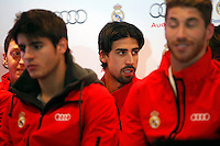 Real Madrid player Sami Khedira participates and receives new Audi during the presentation of Real Madrid's new cars made by Audi at the Jarama racetrack on November 8, 2012 in Madrid, Spain.(ALTERPHOTOS/Harry S. Stamper) .<br />