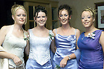 Jillian Rogers, Newfield, Sarah Reilly, Brookville, Lyndsey Owen, Brookside Lodge and Tara Kells, Moneymore at St. Joseph's Grad in the Old Darnley Lodge, Athboy..Picture Paul Mohan Newsfile