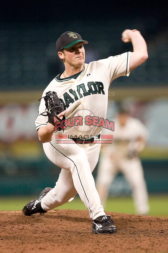 Baylor relief pitcher Aaron Williams (16) in action versus Rice at the 2007 Houston College Classic at Minute Maid Park in Houston, TX, Saturday, February 10, 2007.  The Owls  defeated the Bears 7-0.