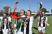 Aurora Galli-Lisa Boattin. Celebration at the end of the match <br /> Verona 20-4-2019 Stadio AGSM Olivieri <br /> Football Women Serie A Hellas Verona - Juventus <br /> Juventus win italian championship <br /> Photo Daniele Buffa / Image Sport / Insidefoto