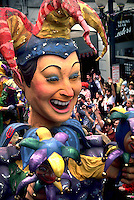 The Jester float in the Rex Mardi Gras parade. New Orleans, Louisiana.