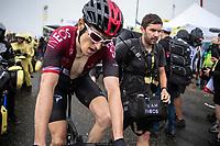 Geraint Thomas (GBR/Ineos)  after finishing on top of the Foix Prat d'Albis. <br /> <br /> Stage 15: Limoux to Foix Prat d'Albis (185km)<br /> 106th Tour de France 2019 (2.UWT)<br /> <br /> ©kramon