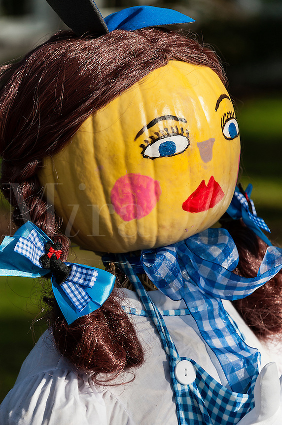 Doll girl pumpkin decoration.