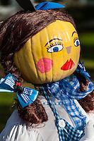 Doll girl pumpkin decoration.