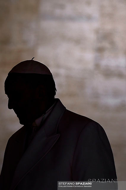 Pope Francis during of a weekly general audience at St Peter's square in Vatican. April 19, 2017