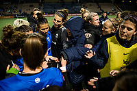 Seattle, Washington -  Saturday April 22, 2017: Seattle Reign FC following a regular season National Women's Soccer League (NWSL) match between the Seattle Reign FC and the Houston Dash at Memorial Stadium.