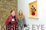 Nora Diggin and Sandra Kearne with a piece called 'Wild Flowers' at the opening of the Tralee Art Group annual Exhibition 'Time and Place in Siamsa Tire and Continues until Friday 3rd of February 2017