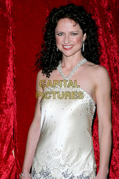 "JEAN LOUISA KELLY.""What A Pair! 3""  A celebrity concert to benefit the Revlon/UCLA Breast Center held at UCLA's Royce Hall, Los Angeles, CA, USA, 8 April 2005..half length halterneck satin cream white dress.Ref: ADM.www.capitalpictures.com.sales@capitalpictures.com.©Jacqui Wong/AdMedia/Capital Pictures."
