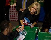 "Washington, DC - January 19, 2009 -- Jill Biden, wife of Vice President-elect Joe Biden takes part in  ""Operation Gratitude"" a public service event at RFK Stadium in Washington, D.C., Monday, January 19, 2009..Credit: Mannie Garcia - Pool via CNP"