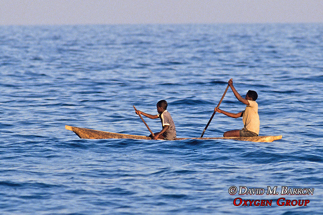 Boys In Dugout Canoe