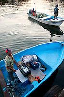 Fishermen at la Isla de Piedra, Mazatlan, Sinaloa, Mexico. Aromas y Sabores with Chef Patricia Quintana