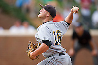 Relief pitcher Jonathan Watson #16 of the VCU Rams in action against the Virginia Cavaliers at the Charlottesville Regional of the 2010 College World Series at Davenport Field on June 4, 2010, in Charlottesville, Virginia.  The Cavaliers defeated the Rams 14-5.  Photo by Brian Westerholt / Four Seam Images