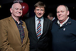 Michael McCormack, Tom McKenny (TD) and Mark Tobin at Gerald Nash's Election Party in the Purple Room..Picture: Shane Maguire / www.newsfile.ie