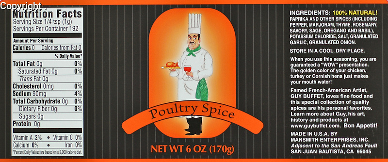 Guy Buffet Poultry Spice<br />