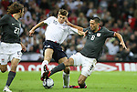 28 May 2008: Clint Dempsey (USA) (8) challenges Steven Gerrard (ENG) (10) for the ball. The England Men's National Team defeated the United States Men's National Team 2-0 at Wembley Stadium in London, England in an international friendly soccer match.