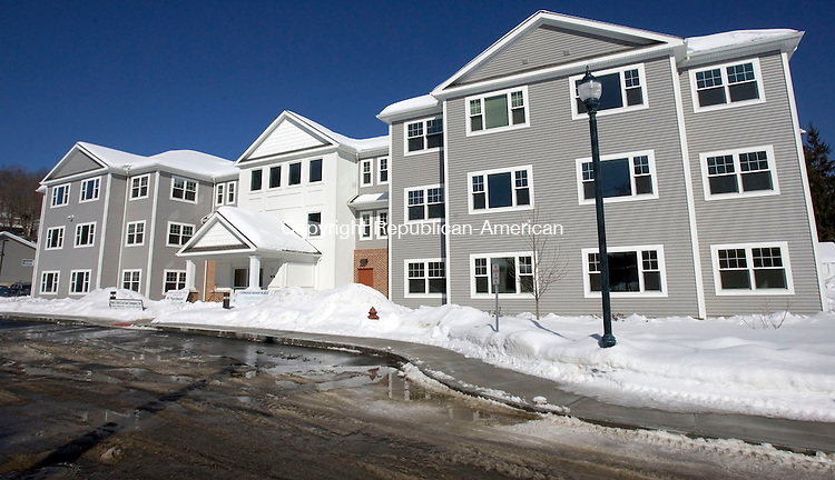 WINSTED CT. 20 February 2014-022014SV04-The newly built elderly housing complex called Carriage Maker Place in Winsted Thursday. <br /> Steven Valenti Republican-American