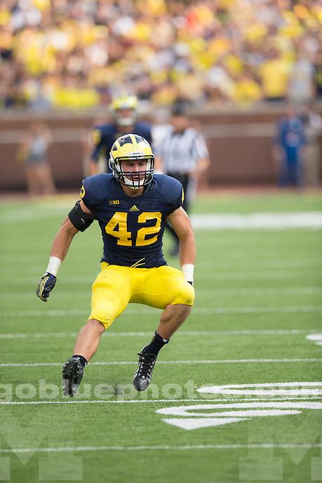 The University of Michigan football team beat Central Michigan University, 59-9, at Michigan Stadium in Ann Arbor, Mich. on August 31, 2013.