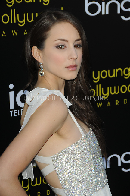 WWW.ACEPIXS.COM . . . . .  ....May 20 2011, LA....Troian Bellisario arriving at the 2011 Young Hollywood Awards at Club Nokia on May 20, 2011 in Los Angeles, California. ....Please byline: PETER WEST - ACE PICTURES.... *** ***..Ace Pictures, Inc:  ..Philip Vaughan (212) 243-8787 or (646) 679 0430..e-mail: info@acepixs.com..web: http://www.acepixs.com