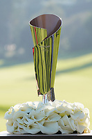 The trophy on display after the final round of the The Genesis Invitational, Riviera Country Club, Pacific Palisades, Los Angeles, USA. 16/02/2020<br /> Picture: Golffile | Phil Inglis<br /> <br /> <br /> All photo usage must carry mandatory copyright credit (© Golffile | Phil Inglis)
