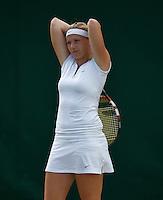 England, London, 27.06.2014. Tennis, Wimbledon, AELTC, Michaella Krajicek (NED) <br /> Photo: Tennisimages/Henk Koster