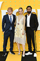 "Ed Sheeran, Lily James and Himesh Patel<br /> arriving for the ""Yesterday"" UK premiere at the Odeon Luxe, Leicester Square, London<br /> <br /> ©Ash Knotek  D3510  18/06/2019"