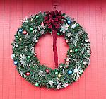 Christmas Wreath, Disney Days of Xmas, Orlando, Florida