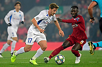 LIVERPOOL, GREAT BRITAN - NOVEMBER 5 : Naby Keita midfielder of Liverpool battles for the ball with Patrik Hrosovsky midfielder of Genk during the UEFA Champions League match between Liverpool FC and KRC Genk on November 05, 2019 in Liverpool, Great Britan, 5/11/2019 <br /> Liverpool 5-11-2019 Anfield <br /> Liverpool - Genk <br /> Champions League 2019/2020<br /> Foto Photonews / Panoramic / Insidefoto <br /> Italy Only